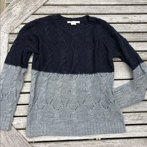 Urban Outfitters Colorblock Sweater, navy & gray